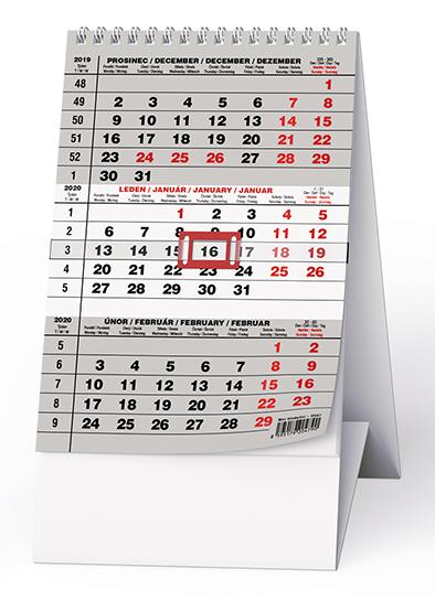 Stolní kalendář - Mini  Tříměsíční