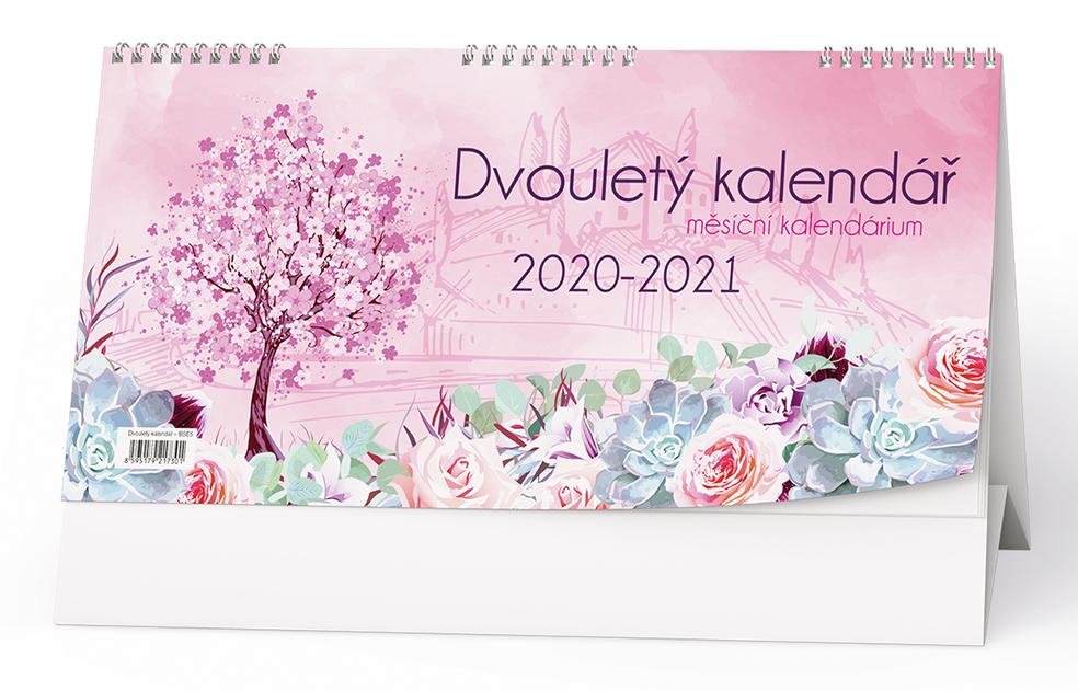 Stolní kalendář - Dvouletý kalendář s měsíčním kalendáriem