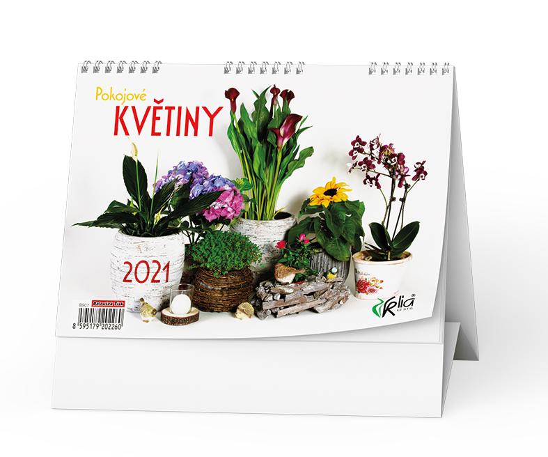 Stolní kalendář - Pokojové  květiny, BALOUŠEK, BSC7