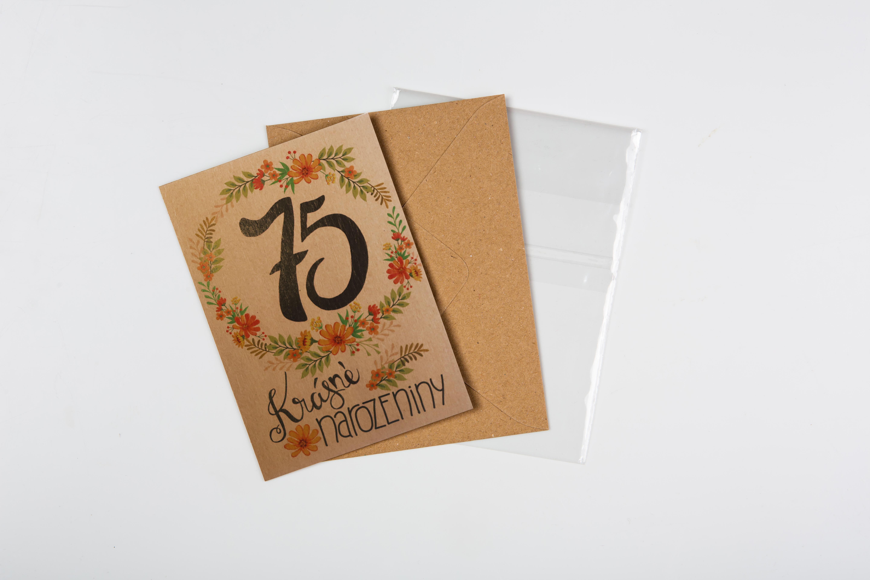 Přáníčko BeBechy – recyklovaný papír – 75