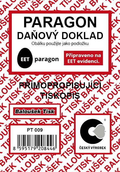 Paragon - daňový doklad A7 - EET