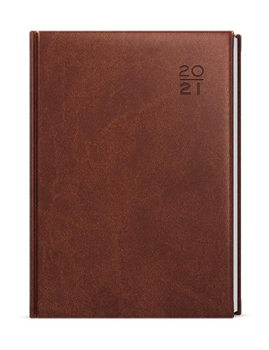 Denní diář - Ctirad - vivella - A5 - hnědá, BALOUŠEK, BDC6-7