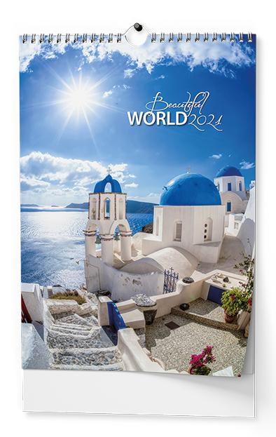 Nástěnný kalendář A3 - Beautiful world, BALOUŠEK, BNF6