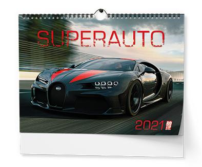 Nástěnný kalendář A3 - Superauto, BALOUŠEK, BNE0