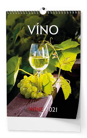 Nástěnný kalendář A3 - Víno, BALOUŠEK, BNF1