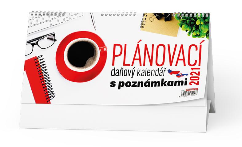 Stolní kalendář - Plánovací daňový kalendář s poznámkami, BALOUŠEK, BSN7
