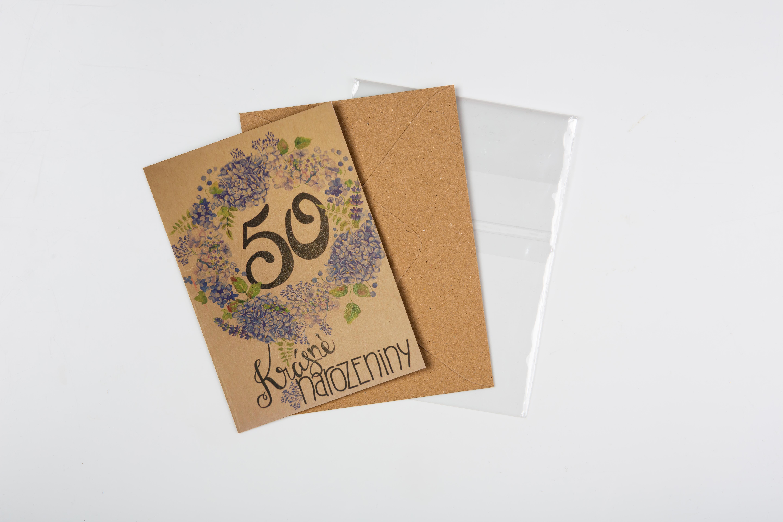 Přáníčko BeBechy – recyklovaný papír – 50