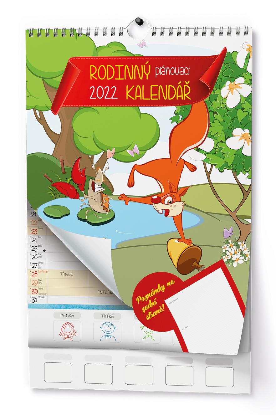 Nástěnný kalendář A3 - Rodinný plánovací