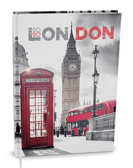 Denní diář - Adam - lamino - B6 - Londýn