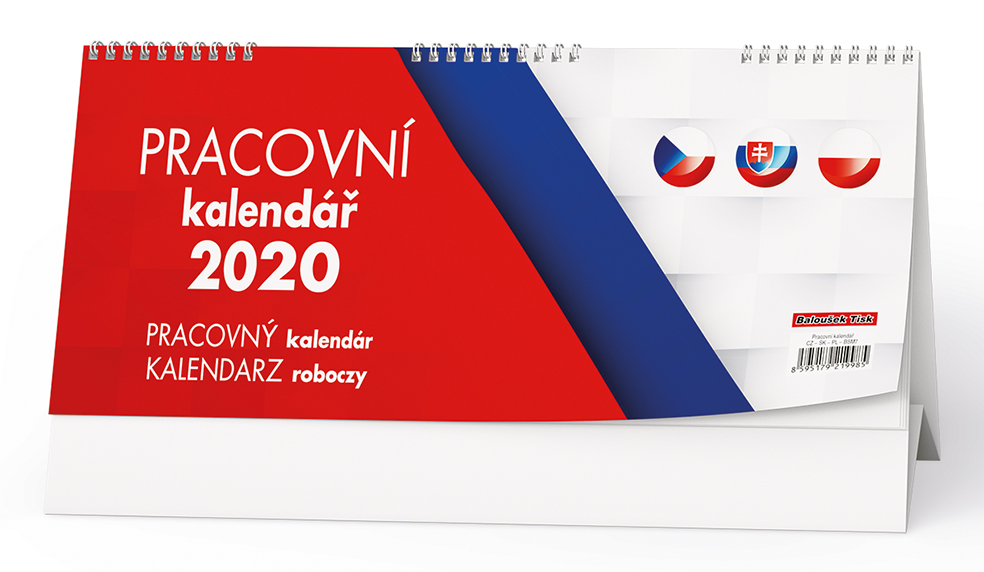 Stolní kalendář - Pracovní kalendář  (CZ - SK - PL)
