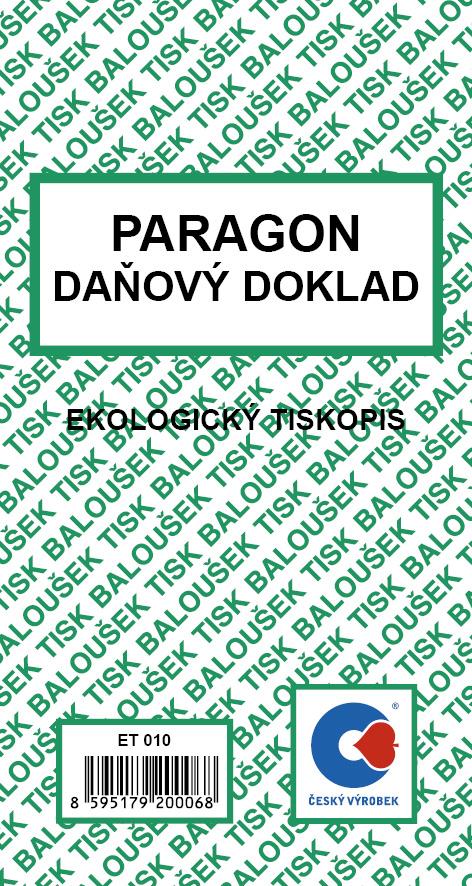 Paragon Danovy Doklad