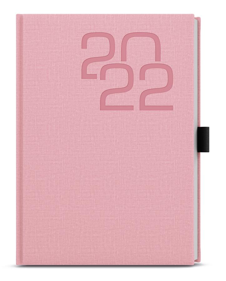 Denní diář - David - Fabric - A5 - růžová