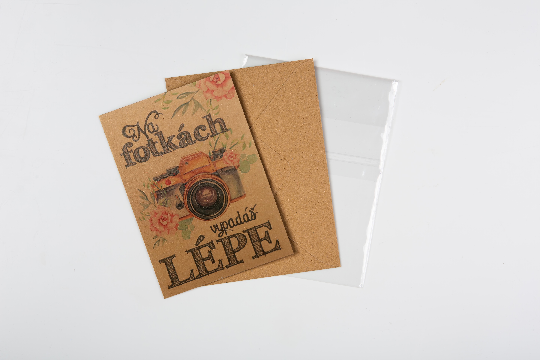 Přáníčko BeBechy - recyklovaný papír - Fotka