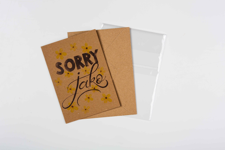 Přáníčko BeBechy - recyklovaný papír - Sorry