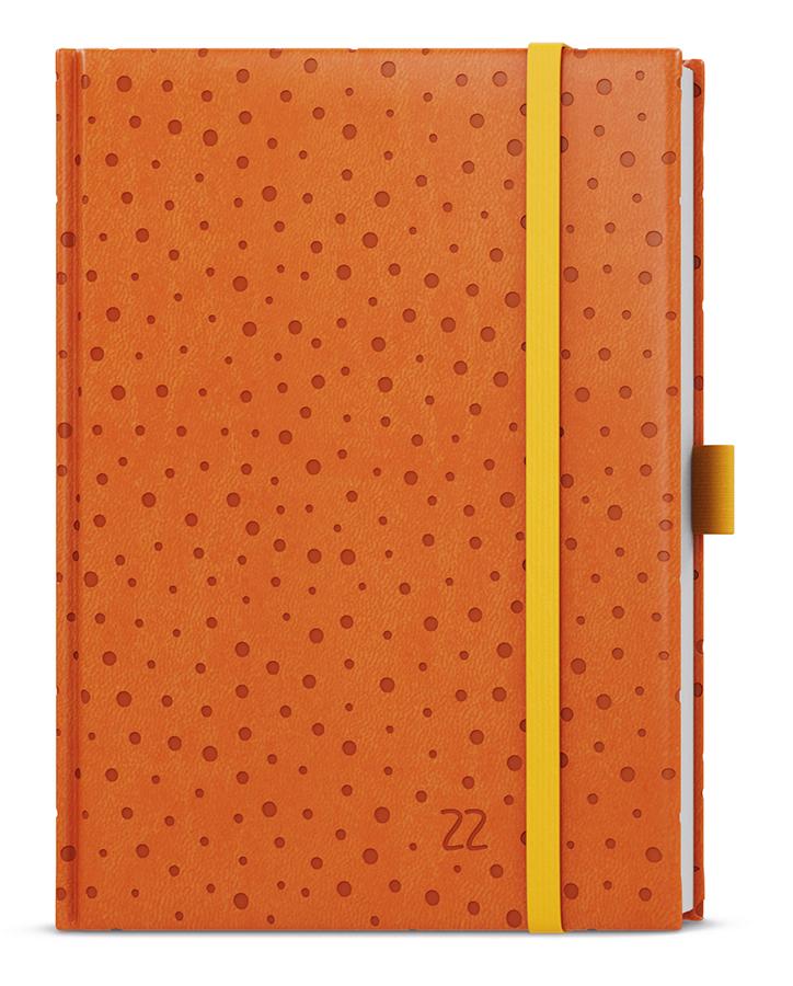 Denní diář - Adam - vivella extra - B6 - oranžová - Puntíky