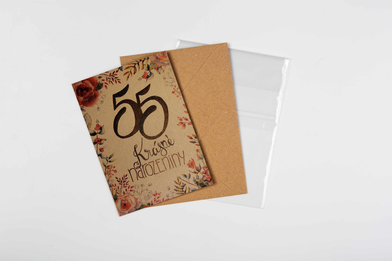 Přáníčko BeBechy – recyklovaný papír – 55