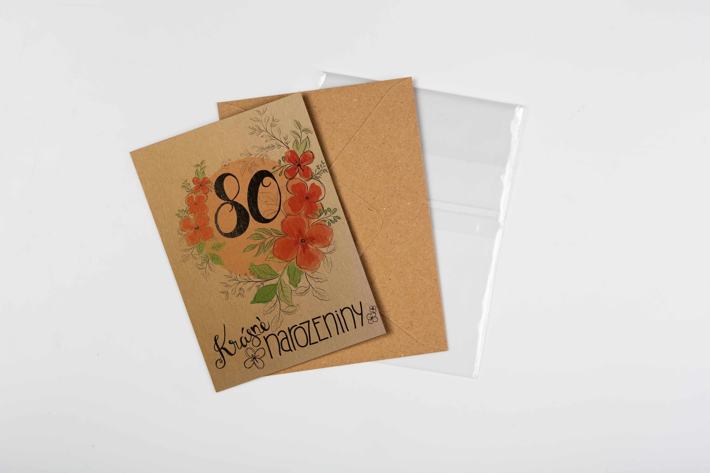 Přáníčko BeBechy – recyklovaný papír – 80