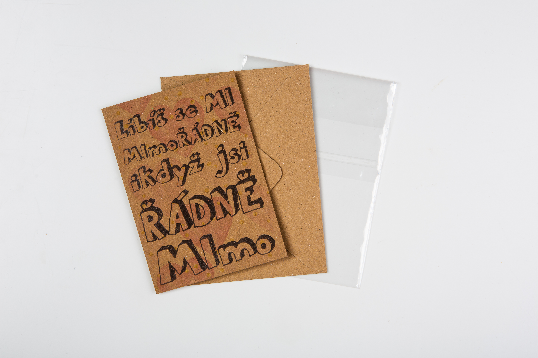 Přáníčko BeBechy - recyklovaný papír - Mimo