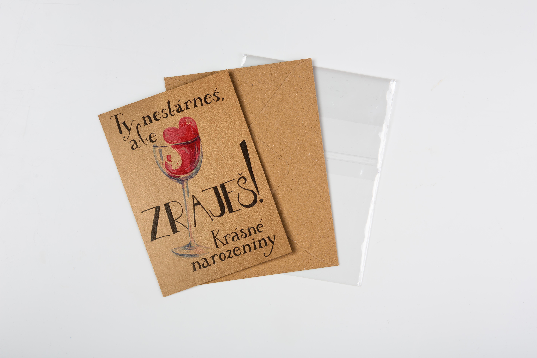 Přáníčko BeBechy - recyklovaný papír - Zraješ