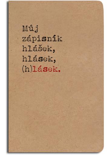 Notes linkovaný - A5 - kraft - zápisník (h)lásek