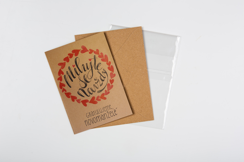Přáníčko BeBechy – recyklovaný papír – Navždy