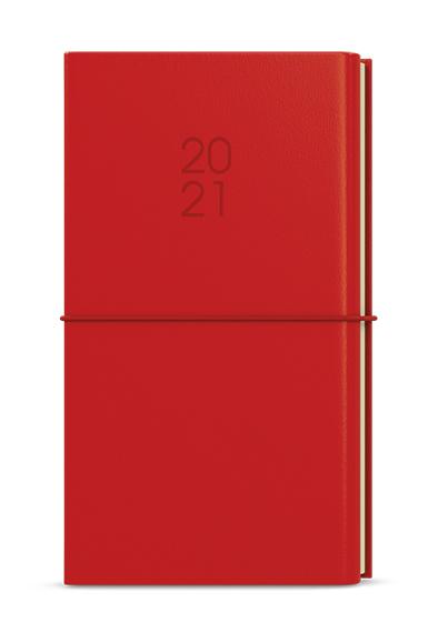 Týdenní diář - Jakub - Dueto - kapesní diář+ blok - červená, BALOUŠEK, BTJk24-6
