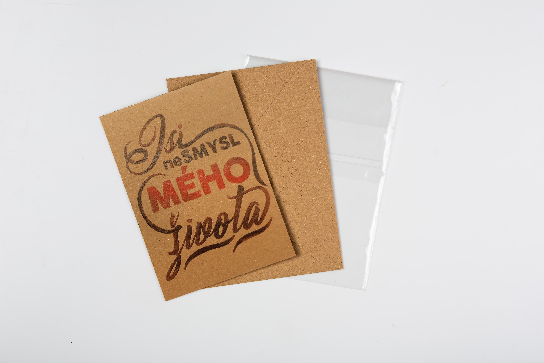 Přáníčko BeBechy - recyklovaný papír - Nesmysl