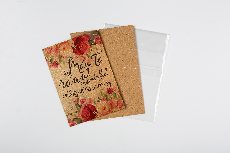 Přáníčko BeBechy - recyklovaný papír - Maminko