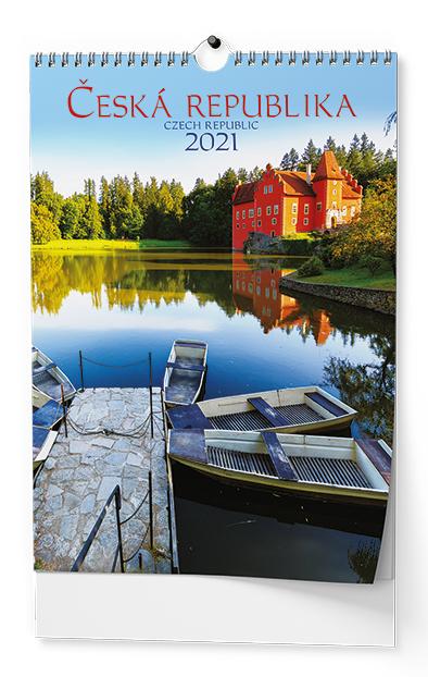 Nástěnný kalendář A3 - Česká republika, BALOUŠEK, BNK0