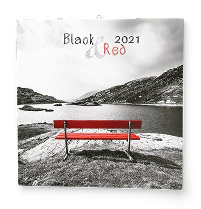 Nástěnný kalendář - Poznámkový - Black & Red, BALOUŠEK, BNL8