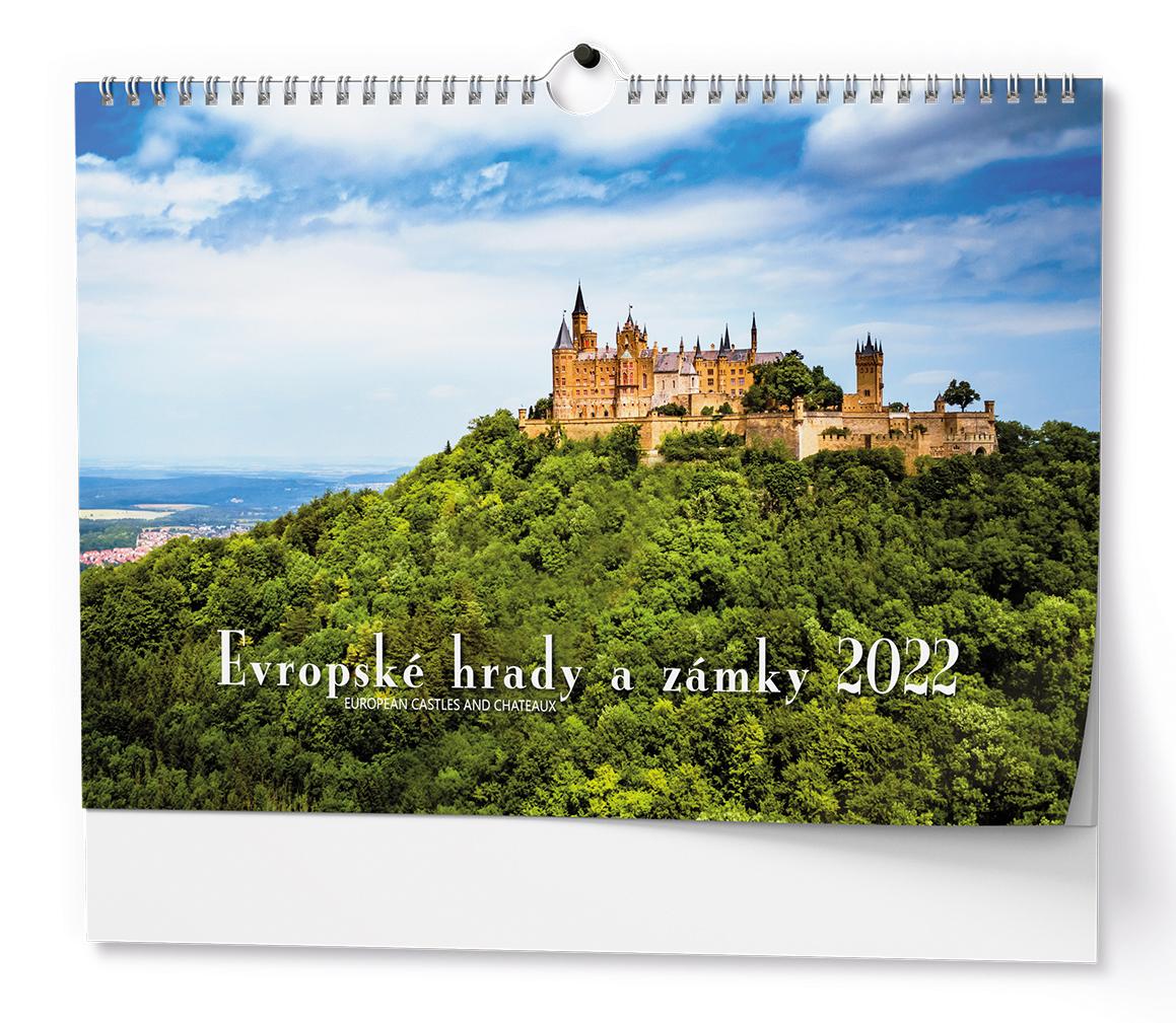 Nástěnný kalendář A3 - Evropské hrady a zámky