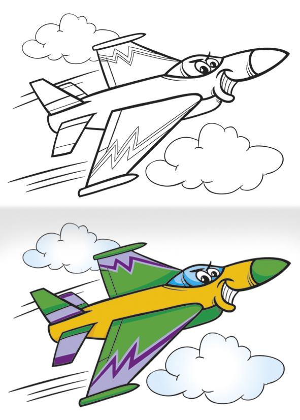 Omalovánka A5 - Letadla