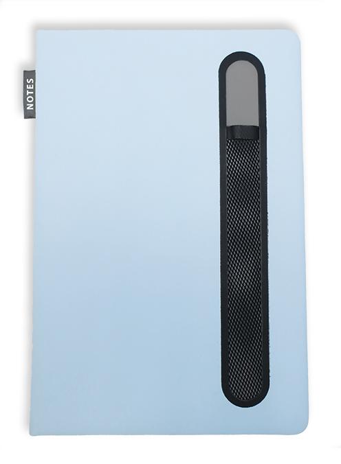 Notes linkovaný s kapsou A5 - pastel - světle modrá