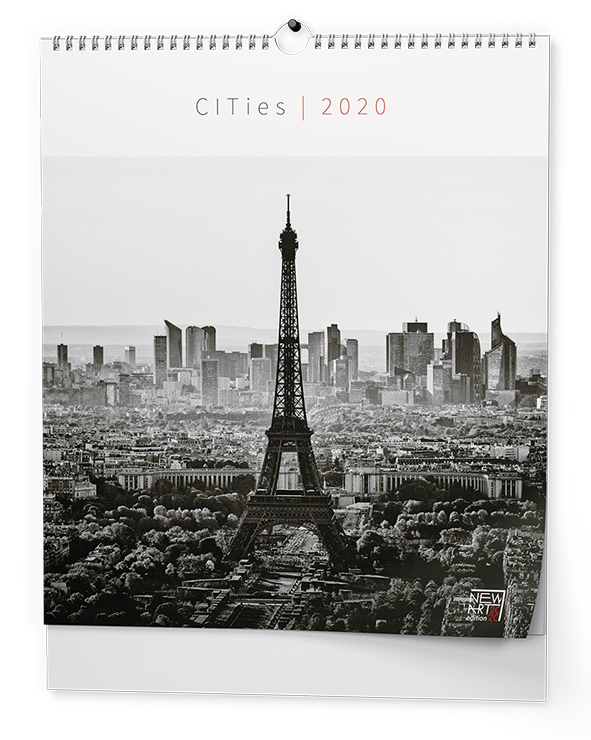 Nástěnný kalendář - Cities (450x520 mm)