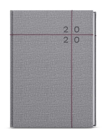 Denní diář - David - fabric - A5 - šedá