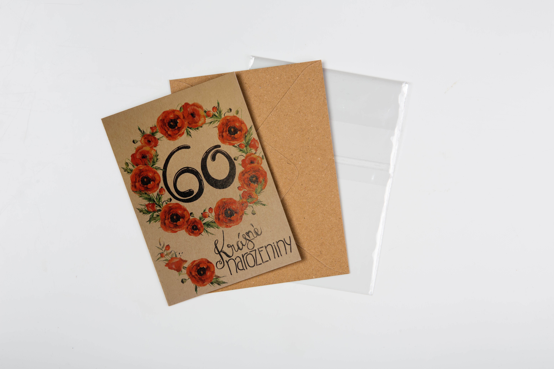 Přáníčko BeBechy – recyklovaný papír – 60