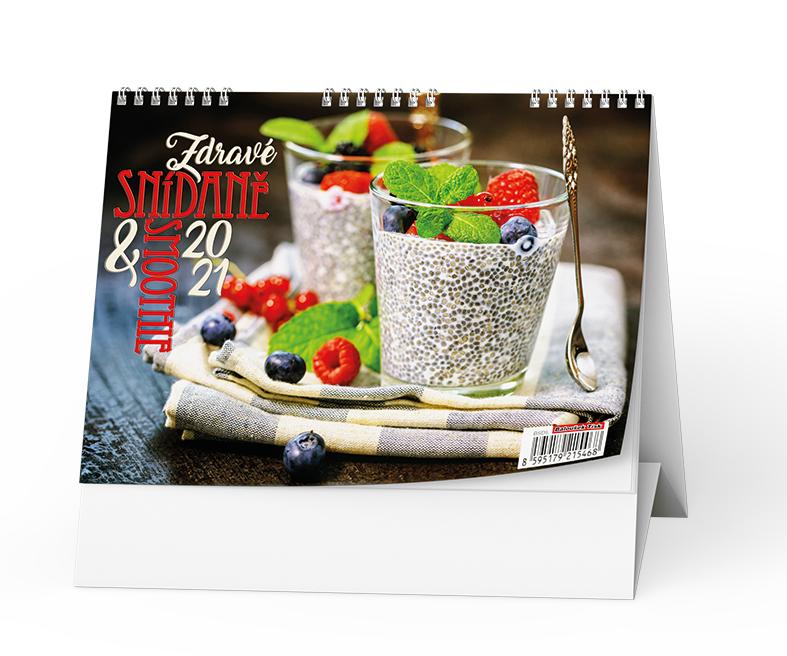 Stolní kalendář - Zdravé snídaně & smoothie, BALOUŠEK, BSD5