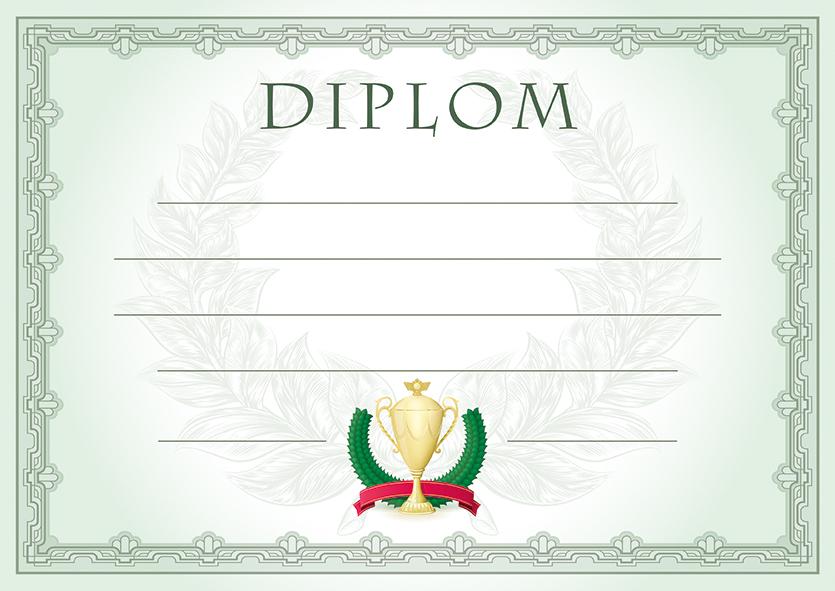 Diplom A4 Vavřín