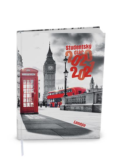 Týdenní diář - Student - V8 - lamino - kapesní - Londýn, BALOUŠEK, BTS9-3