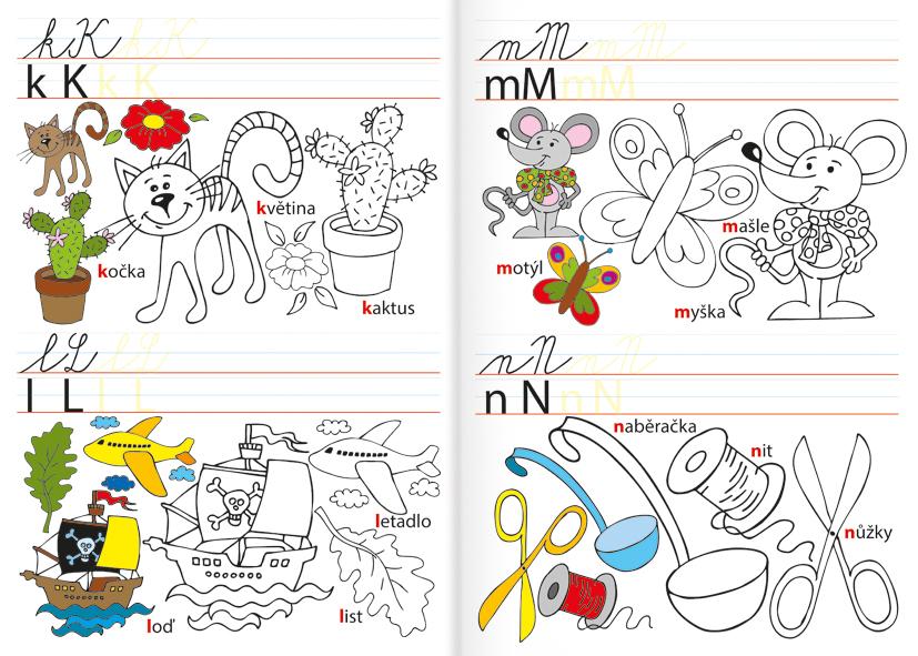 Omalovánka A4 - Abeceda - Učíme se písmenka
