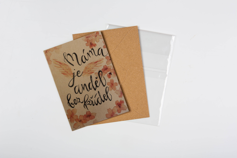 Přáníčko BeBechy – recyklovaný papír – Máma