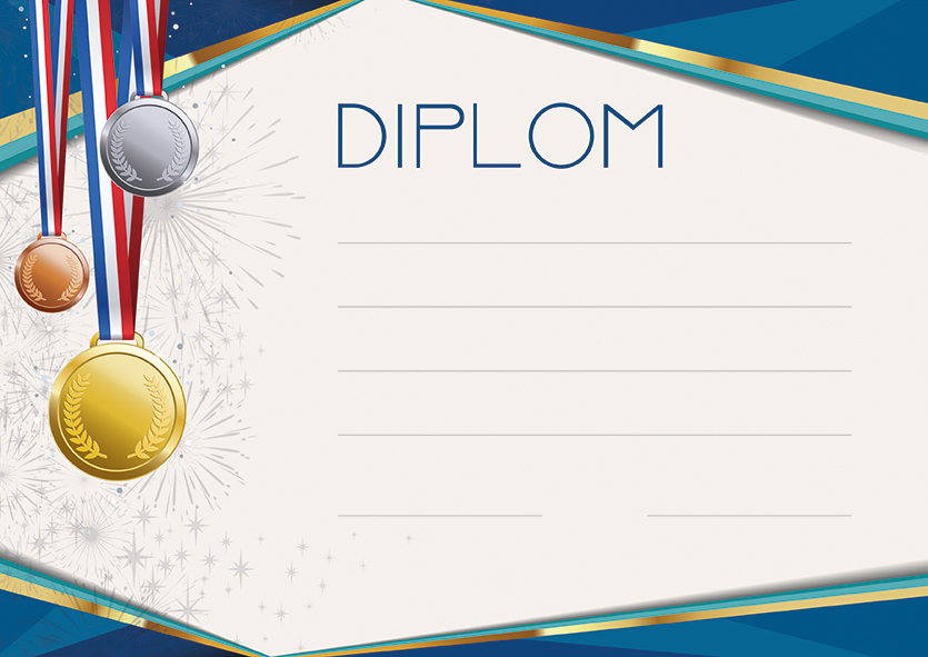 Diplom A4 Medaile