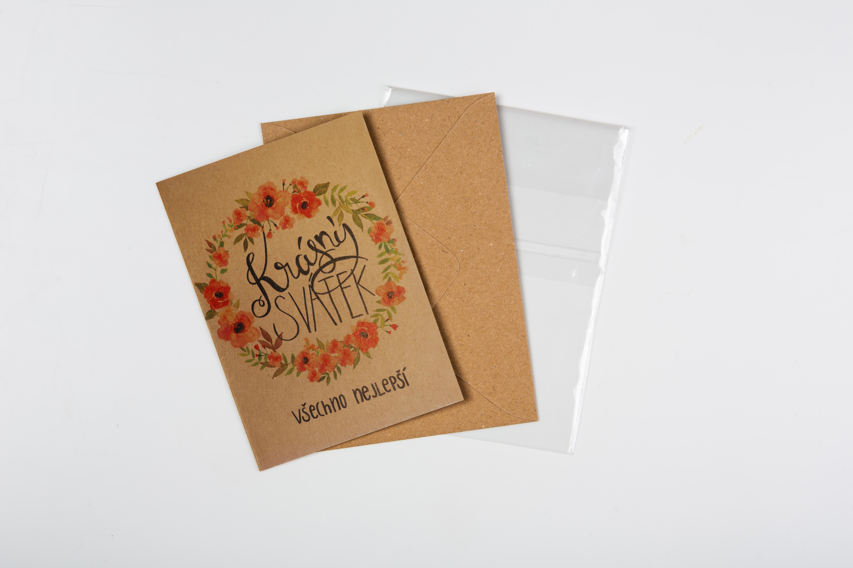 Přáníčko BeBechy – recyklovaný papír – Svátek2