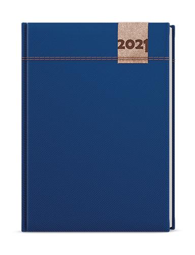 Týdenní diář - Oskar - denim - A5 - modrá, BALOUŠEK, BTO19-1