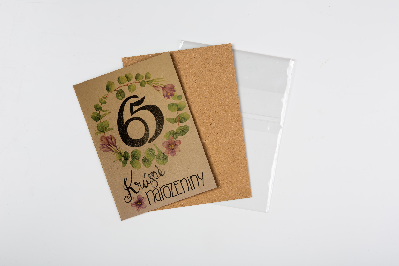 Přáníčko BeBechy – recyklovaný papír – 65