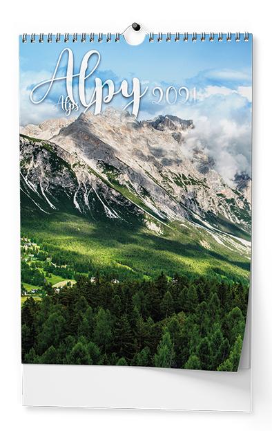 Nástěnný kalendář A3 - Alpy, BALOUŠEK, BNF8