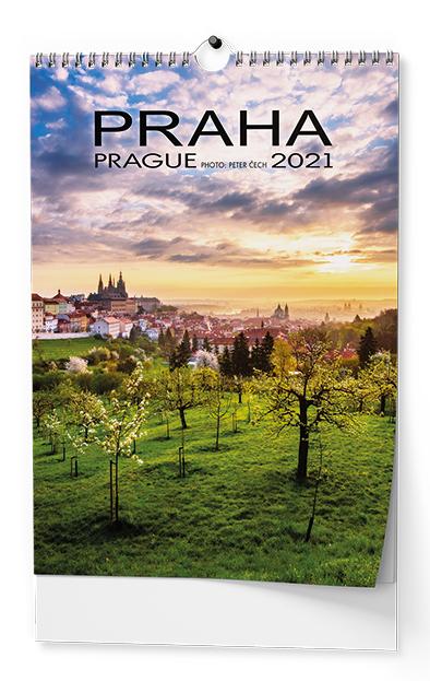 Nástěnný kalendář A3 - Praha, BALOUŠEK, BNK1