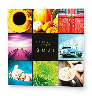 Nástěnný kalendář - Poznámkový - Barevný svět, BALOUŠEK, BNL7