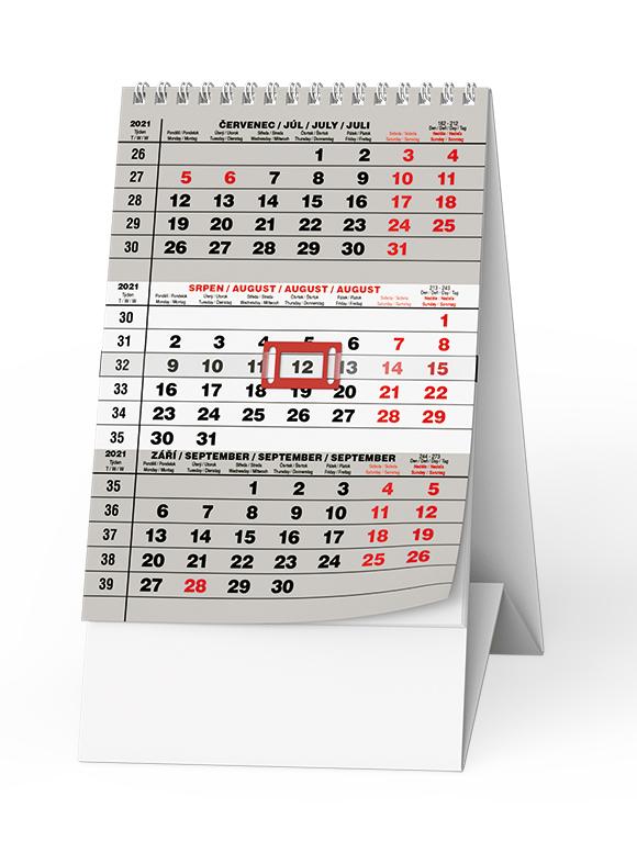 Stolní kalendář - Mini  Tříměsíční, BALOUŠEK, BSA7