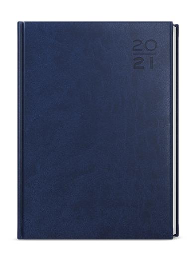 Denní diář - Goliáš - vivella - A4 - modrá, BALOUŠEK, BDG6-1